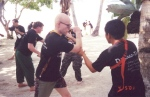 Jussi and Nonoy knife passing drill