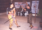 Rommel and Nonoy playing with live swords in full speed