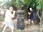 Tire workout in Antipolo